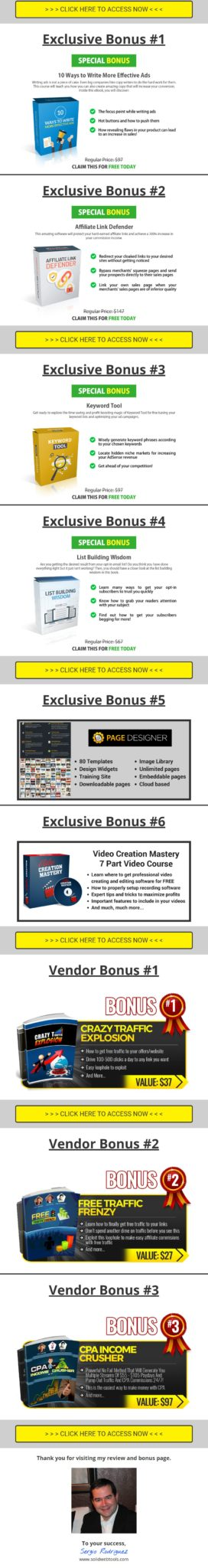 Affiliate domination blueprint review quality exclusive bonuses affiliate domination blueprint review malvernweather Images